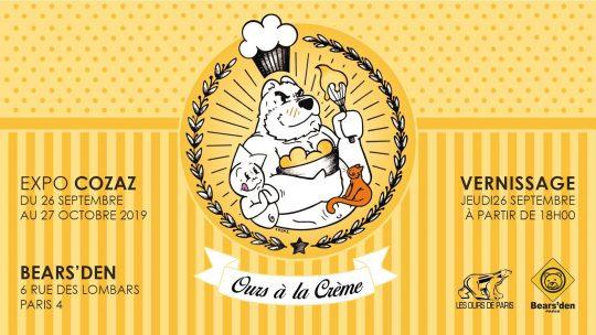 «Ours à la crème», exposition de Cozaz à Paris le jeudi 26 septembre