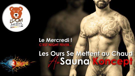 Night Fever ! Les Ours Se Mettent Au Chaud ! Koncept Sauna