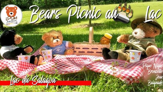 Bears Picnic au Lac du Salagou